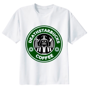 "Darth Vader ""Death Starbucks Coffee"" Star Wars T-shirt - moviesforce.com"