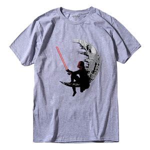 Darth Vader On The Moon - Death Star Star Wars T-shirt | 16 colors - moviesforce.com