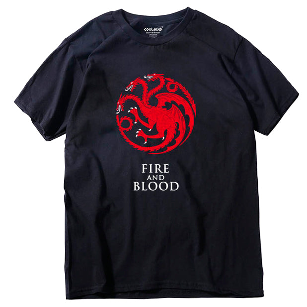 """Fire And Blood"" Game Of Thrones T-shirt 