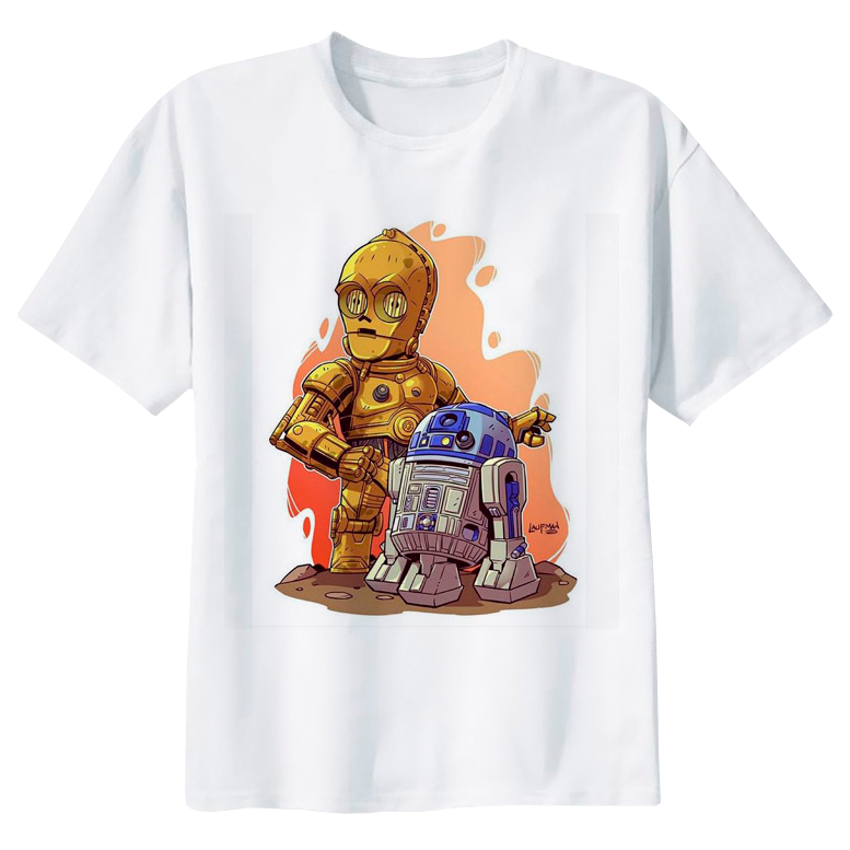 C-3PO and AR2D2 Star Wars T-shirt - moviesforce.com