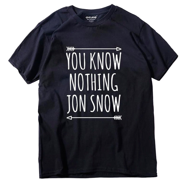 """You Know Nothing Jon Snow"" Game Of Thrones T-shirt - moviesforce.com"