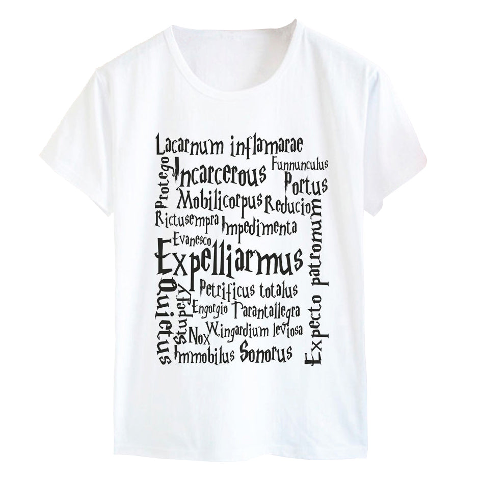 Spell List Harry Potter T-shirt | 3 colors - moviesforce.com