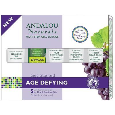 Andalou Naturals Age Defying Kit  (5 Piece Kit) For Dry Sensitive Skin