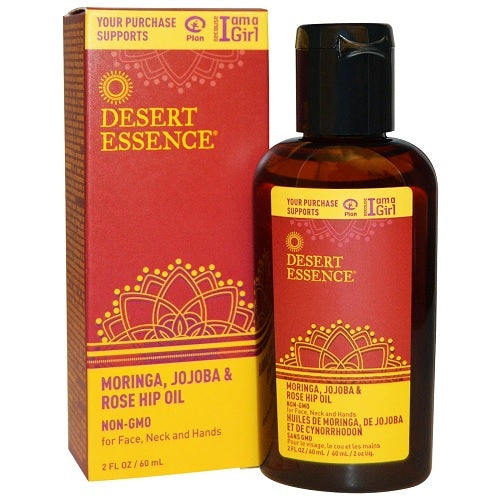 Desert Essence Jojoba Moringa Rose Hip Oil