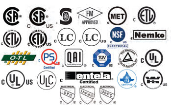 Recognized certification marks in Canada