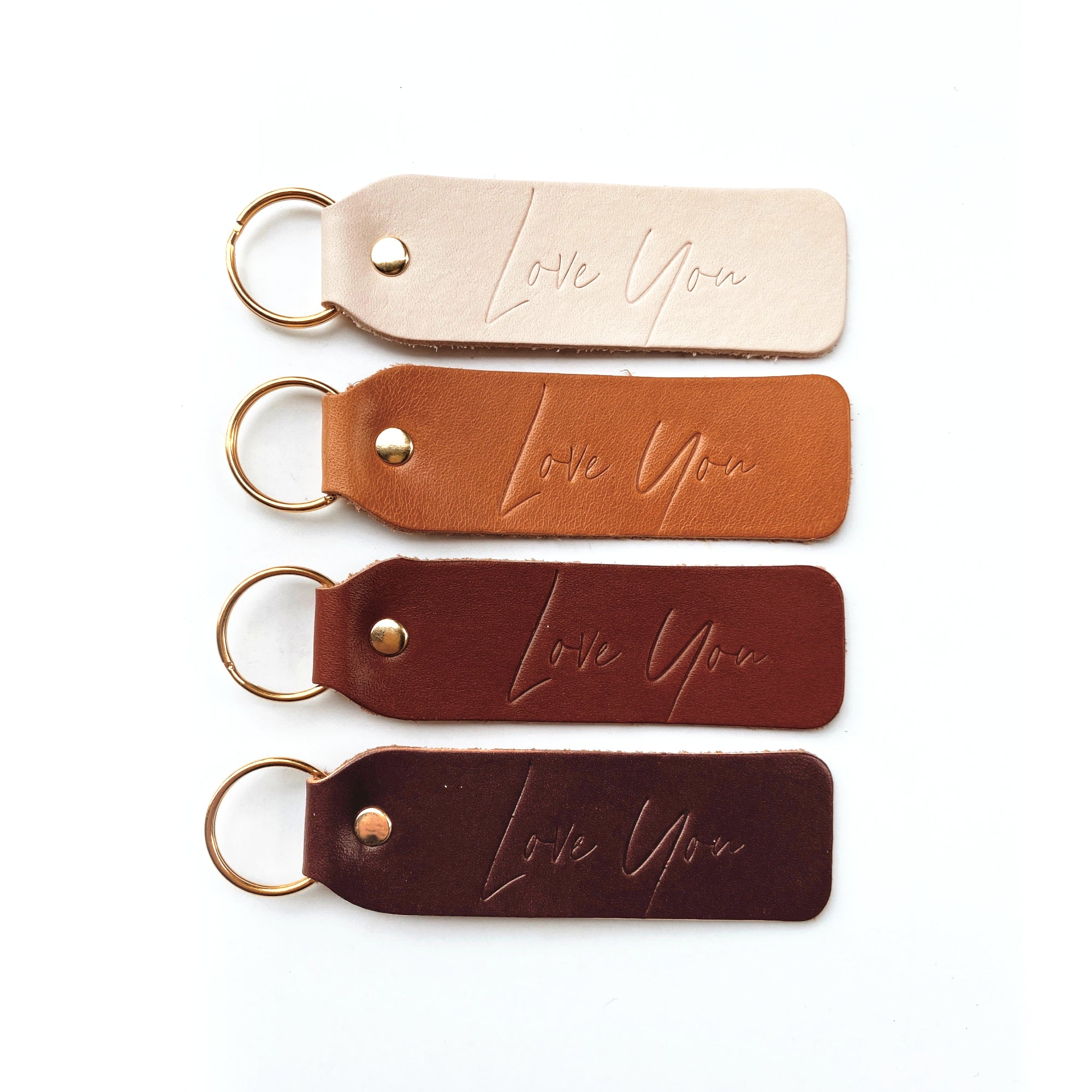 """Love You"" Script Keychain"