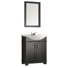 "Fresca Hartford 30"" Black Traditional Bathroom Vanity"