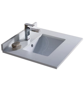 "Fresca Oxford 24"" White Countertop with Undermount Sink"