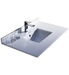 "Fresca Oxford 36"" White Countertop with Undermount Sink"