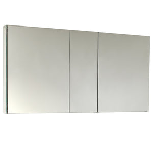 "Fresca 50"" Wide x 26"" Tall Bathroom Medicine Cabinet w/ Mirrors"