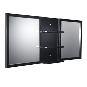 "Fresca Vetta 60"" Espresso Mirrors with Shelf Combination"