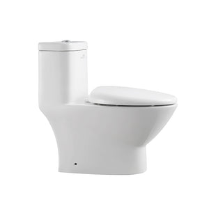 Fresca Serena One-Piece Dual Flush Toilet w/ Soft Close Seat