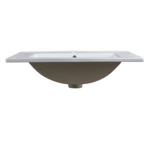 "Fresca Amato 24"" White Integrated Sink / Countertop"