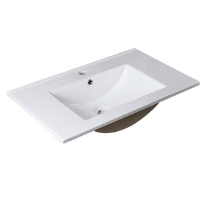 "Fresca Allier 30"" White Integrated Sink / Countertop"