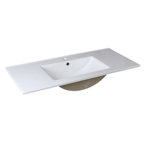 "Fresca Allier 40"" White Integrated Sink / Countertop"