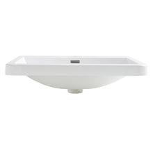 "Fresca Milano 26"" White Integrated Sink / Countertop"