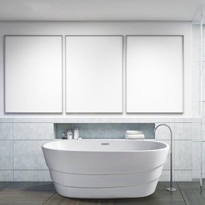 "63"" Streamline N-760-63FSWH-FM Soaking Freestanding Tub With Internal Drain"