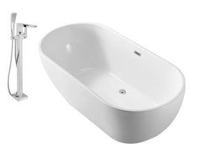 "Faucet and Tub Set Streamline 59"" Freestanding NH140-100"