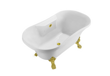 "60"" Streamline N100BL Soaking Clawfoot Tub With External Drain"