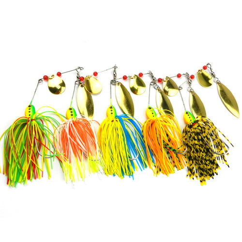 Vibrant Colored Spinner Baits