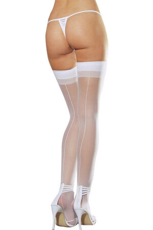 Backseam Sheer Thigh Highs