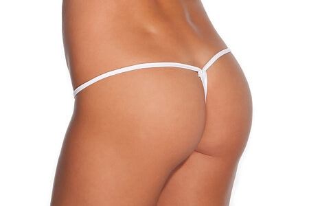 White Low Rise Lycra G-String