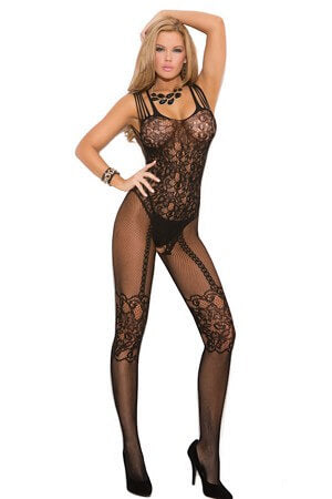 Queen Fishnet Fancy Bodystocking