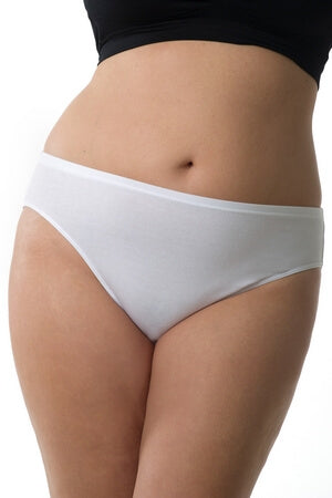 Plus White Hi-Cut Brief
