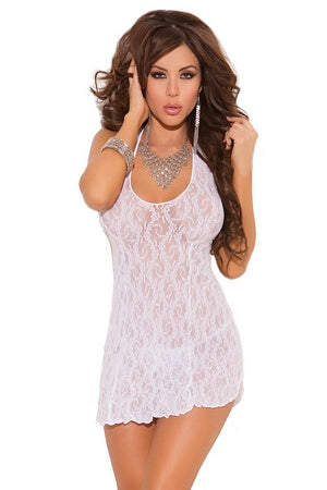 Lace Halter Diva Mini Dress