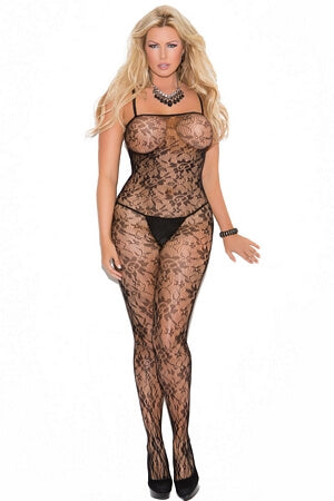 Diva Seductive Rose Lace Body Stocking