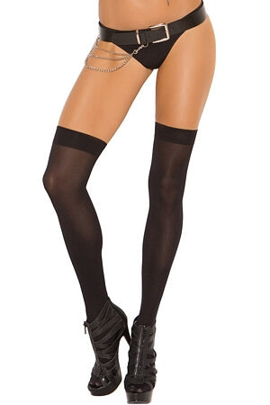 Sleek Opaque Thigh High