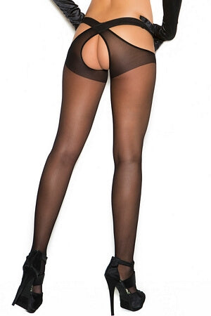 Criss Cross Suspender Pantyhose
