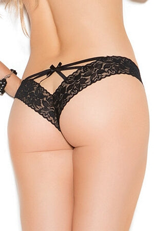 Lace V Front Thong