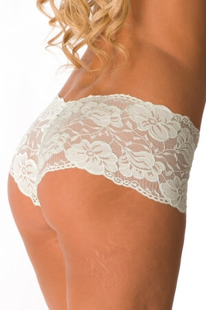 Plus Green Lace In Love Boyshort