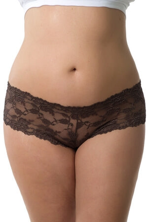 Plus Sassy Lace Boyshort