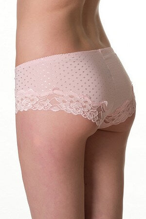 Pink Dot And Lace Boyshort