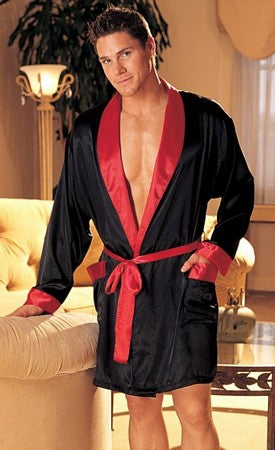 Elegant Two-Tone Charmeuse Uni-Sex Robe
