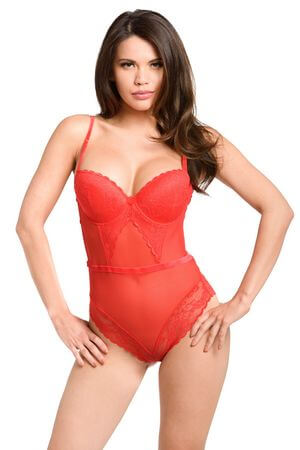 Red In Your Lace Teddy