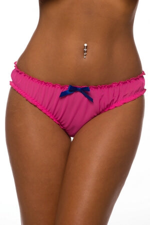 Pink Ruched Rene Ruffle Panty