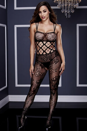 Blossoming Romance Crotchless Bodystocking