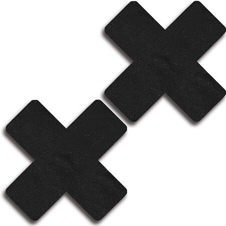 Black Leather Cross Pasties