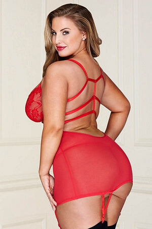 Queen Red Killer Curves Chemise