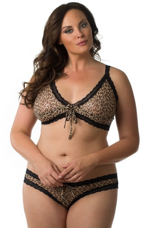 Plus Cant Be Tamed Bra Set