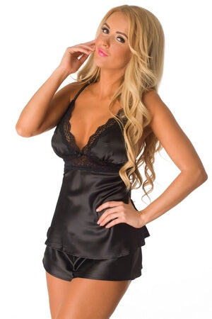 Black Captivating Cami Set