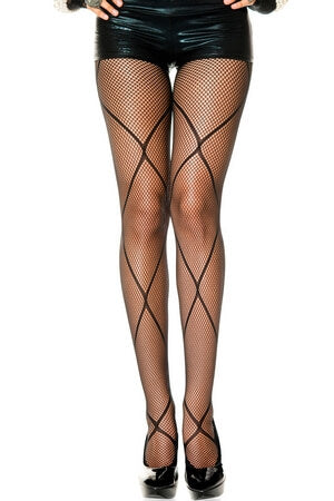 Fishnet Pantyhose With Diamond Net Design