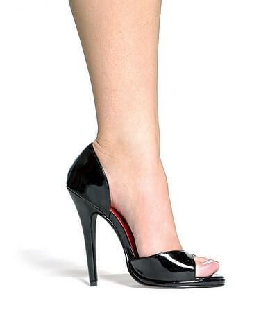 5 inch Heel Open Toe Pump