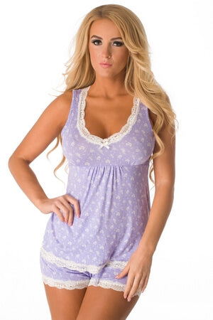 Lavender Fields Short PJ Set