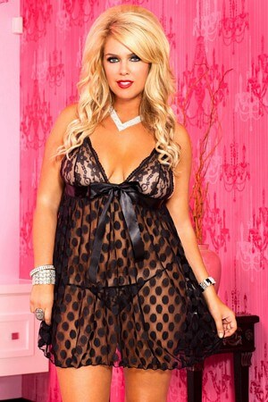 Queen Polka Dot Babydoll