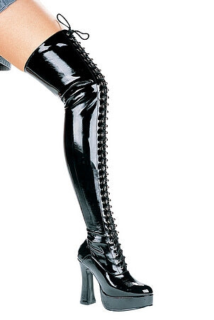 5 inch Heel Thigh High Stretch Boot