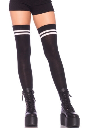 Ribbed Athletic Thigh Highs